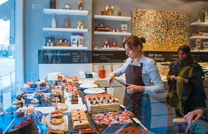 Worker in bakery